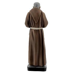 Statue Saint Pio 26 cm résine colorée s4