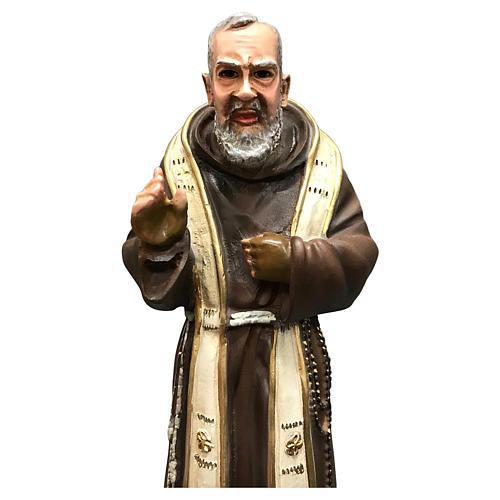 Statue Saint Pio 26 cm résine colorée 2