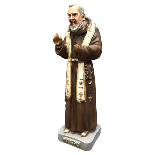 Statua San Pio 26 cm resina colorata 3