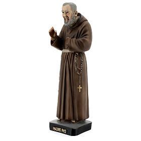 Saint Pio statue, 26 cm colored resin s2