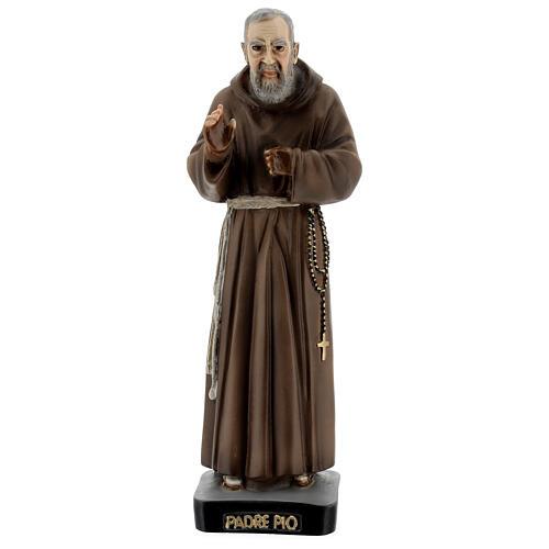 Saint Pio statue, 26 cm colored resin 1