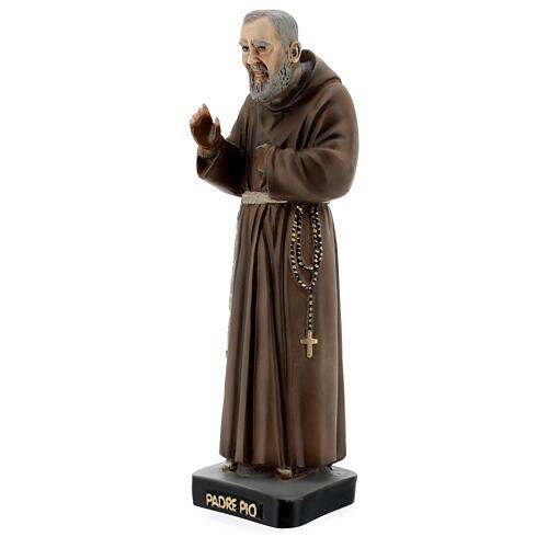 Saint Pio statue, 26 cm colored resin 2