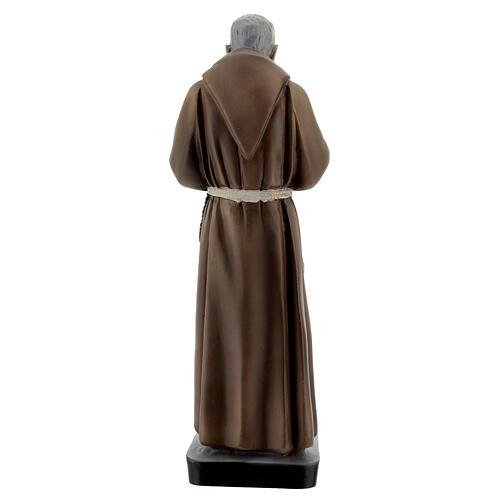Saint Pio statue, 26 cm colored resin 4