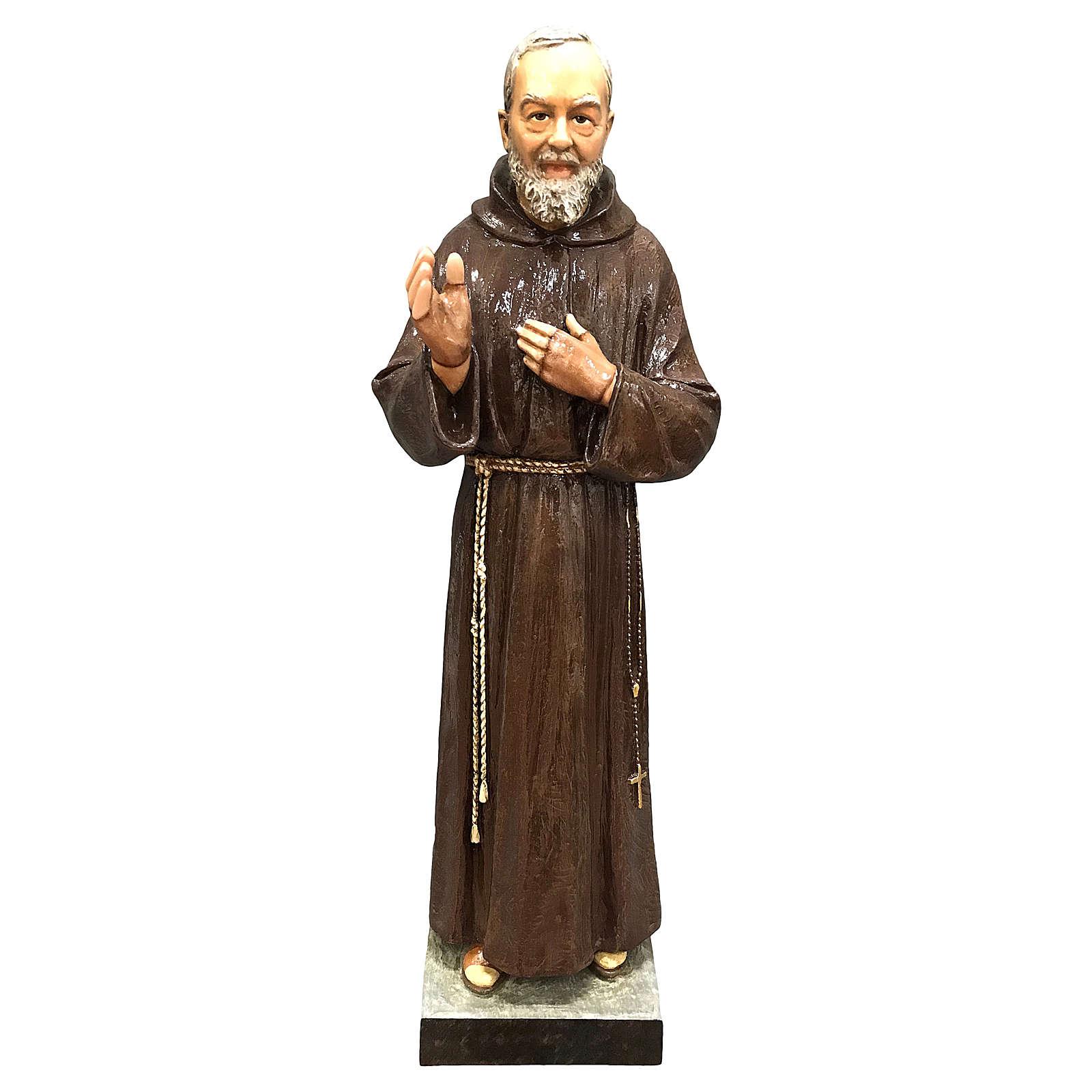 Statue Saint Pio 82 cm fibre de verre colorée POUR EXTÉRIEUR 4