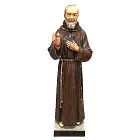 Statue Saint Pio 82 cm fibre de verre colorée POUR EXTÉRIEUR s1