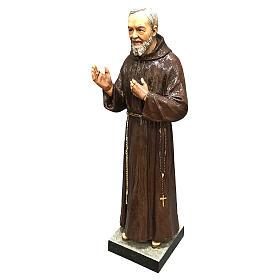 Statue Saint Pio 82 cm fibre de verre colorée POUR EXTÉRIEUR s2