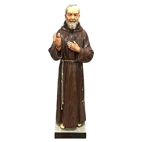 Statue Saint Pio 82 cm fibre de verre colorée POUR EXTÉRIEUR 1