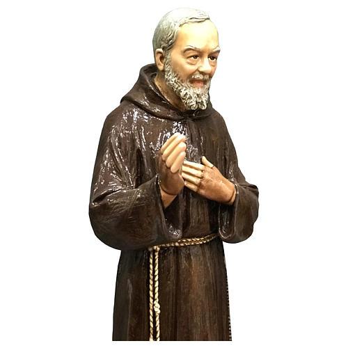 Statue Saint Pio 82 cm fibre de verre colorée POUR EXTÉRIEUR 3