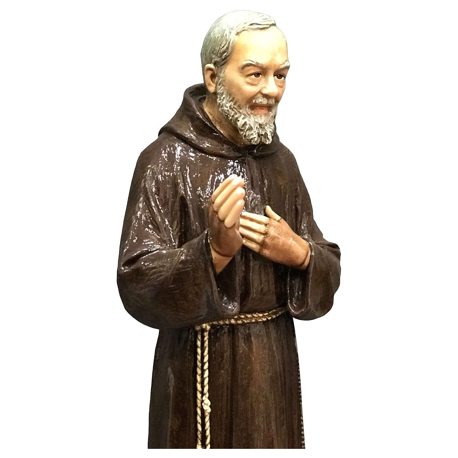 Statua San Pio 82 cm vetroresina colorata PER ESTERNO 4