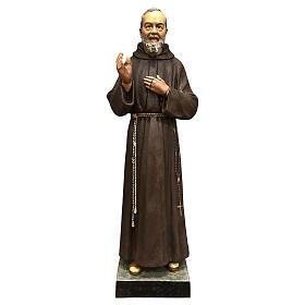 Statue Saint Pio 82 cm fibre de verre colorée s1