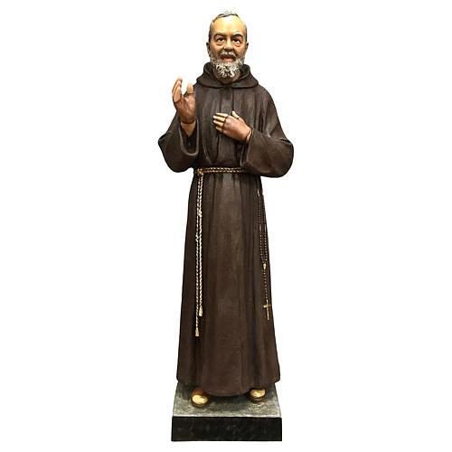 Statue Saint Pio 82 cm fibre de verre colorée 1
