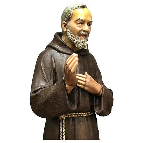 Statue Saint Pio 82 cm fibre de verre colorée 2
