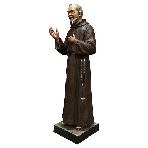 Statue Saint Pio 82 cm fibre de verre colorée 3