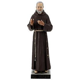 Statua San Pio 82 cm vetroresina colorata s1