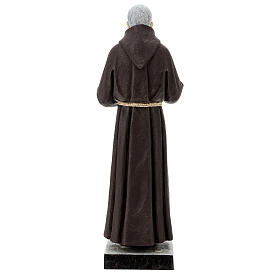 Statua San Pio 82 cm vetroresina colorata s6