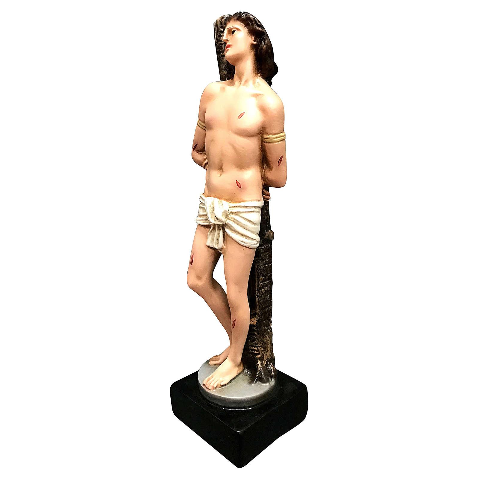 Statua San Sebastiano resina 30 cm colorata 4