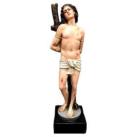 Statua San Sebastiano resina 30 cm colorata s1
