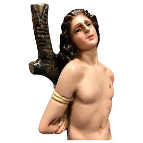 Statua San Sebastiano resina 30 cm colorata s2