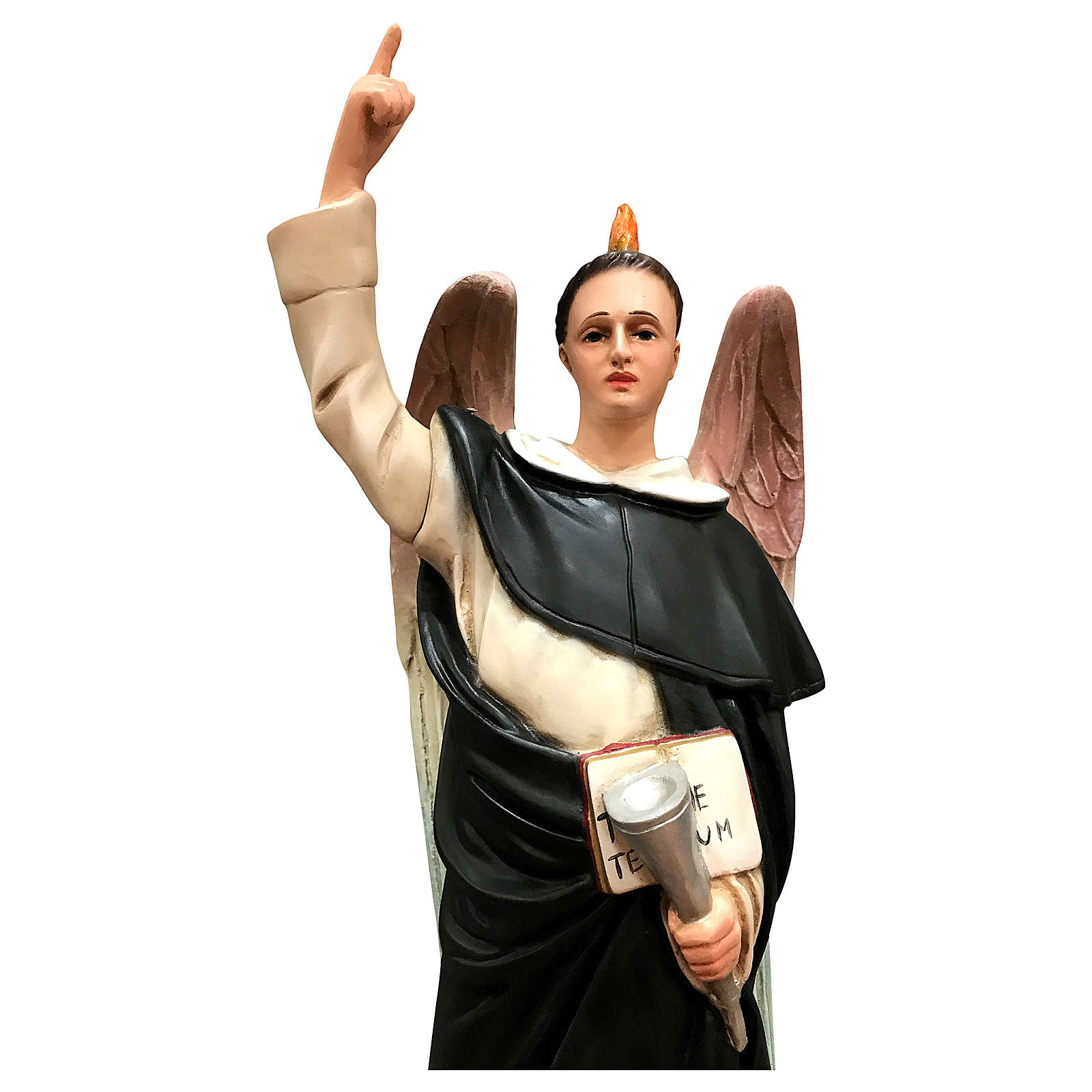 Statua San Vincenzo Ferrari 50 cm resina colorata 4
