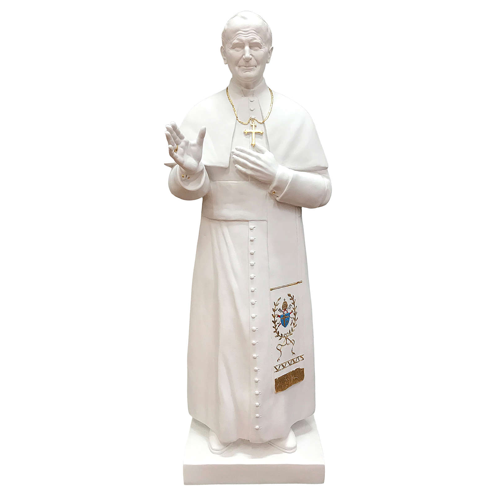 Statua San Giovanni Paolo II 90 cm vetroresina bianca 4