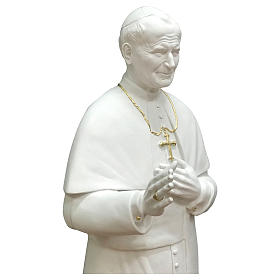 Statua San Giovanni Paolo II 90 cm vetroresina bianca s2