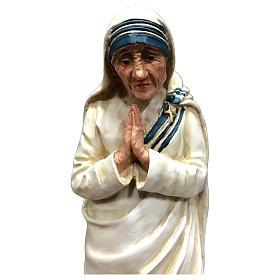 Statua Madre Teresa di Calcutta con mani giunte resina 25 cm s2