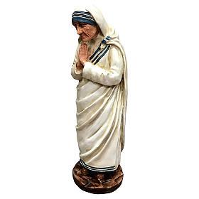 Statua Madre Teresa di Calcutta con mani giunte resina 25 cm s3