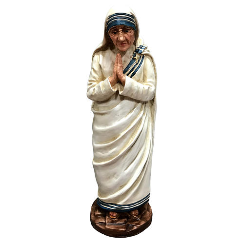 Statua Madre Teresa di Calcutta con mani giunte resina 25 cm 1