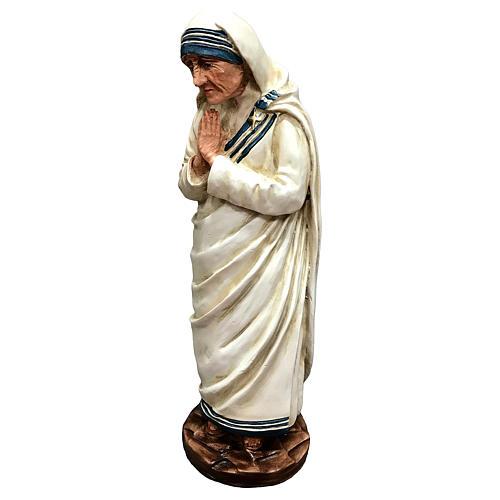 Statua Madre Teresa di Calcutta con mani giunte resina 25 cm 3