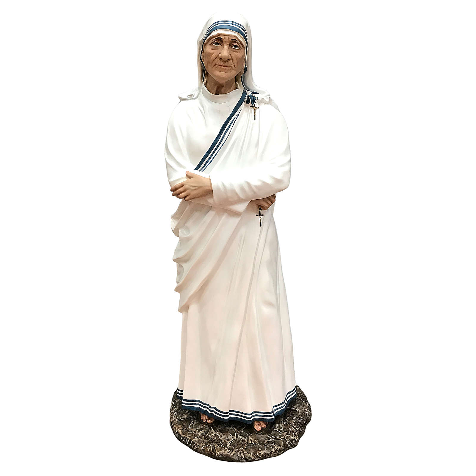 Statue of Mother Theresa of Calcutta with arms crossed 110 cm 4