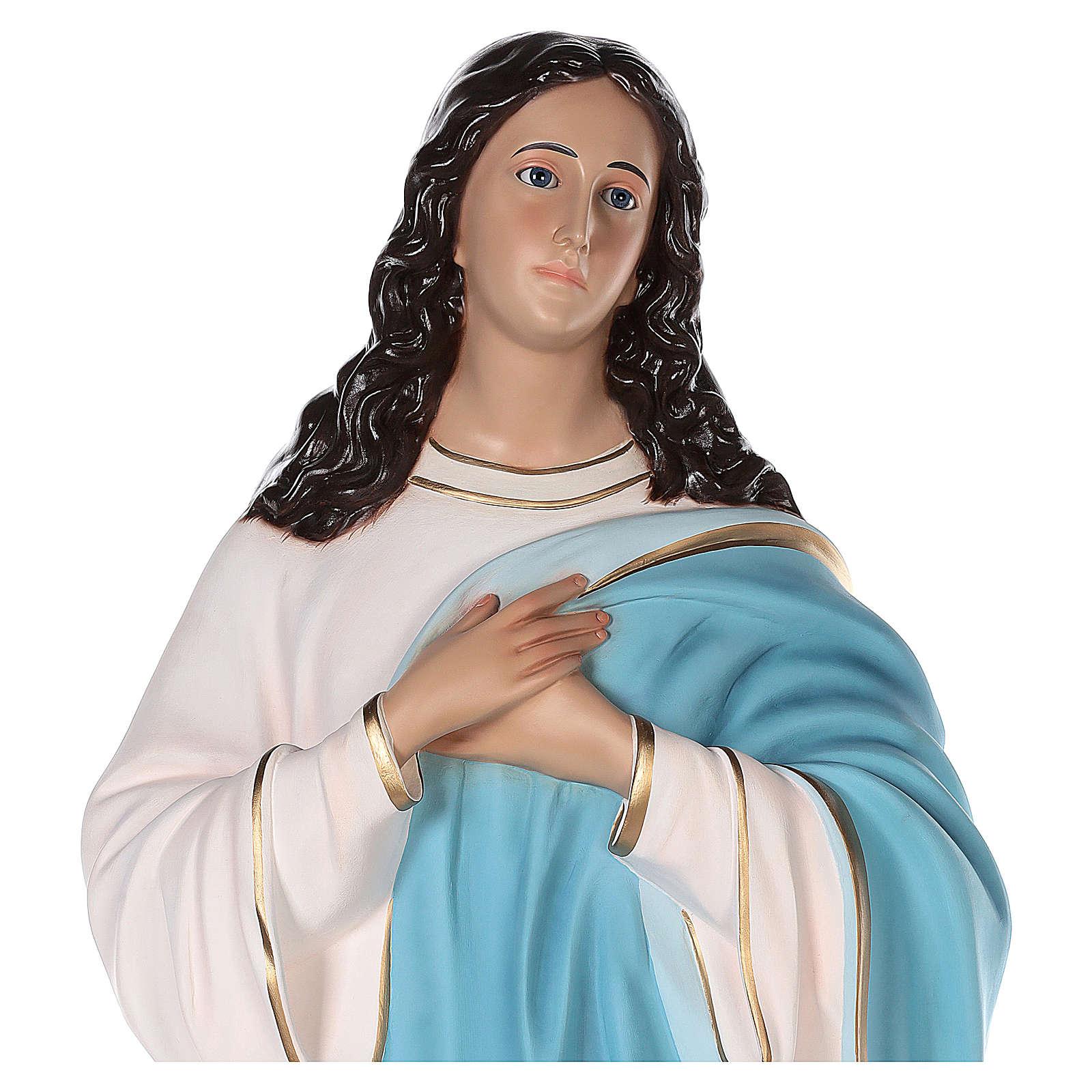 Estatua Virgen Asunta del Murillo 155 cm fibra de vidrio pintada ojos de cristal 4