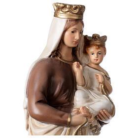 Statue Notre-Dame du Mont-Carmel résine peinte 34 cm s2