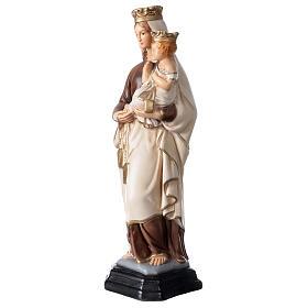 Statue Notre-Dame du Mont-Carmel résine peinte 34 cm s3