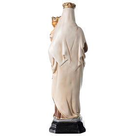 Statue Notre-Dame du Mont-Carmel résine peinte 34 cm s5