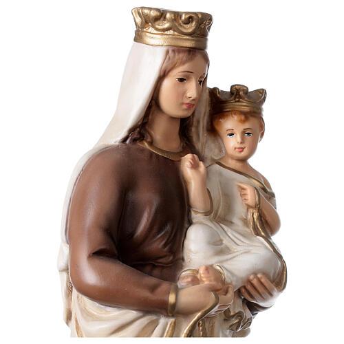 Statue Notre-Dame du Mont-Carmel résine peinte 34 cm 2