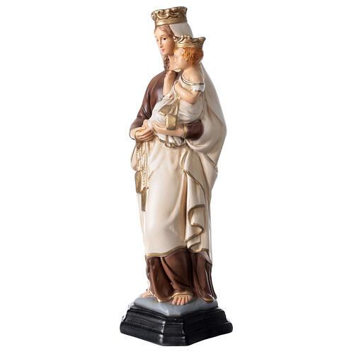 Statue Notre-Dame du Mont-Carmel résine peinte 34 cm 3