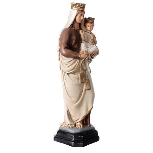 Statue Notre-Dame du Mont-Carmel résine peinte 34 cm 4