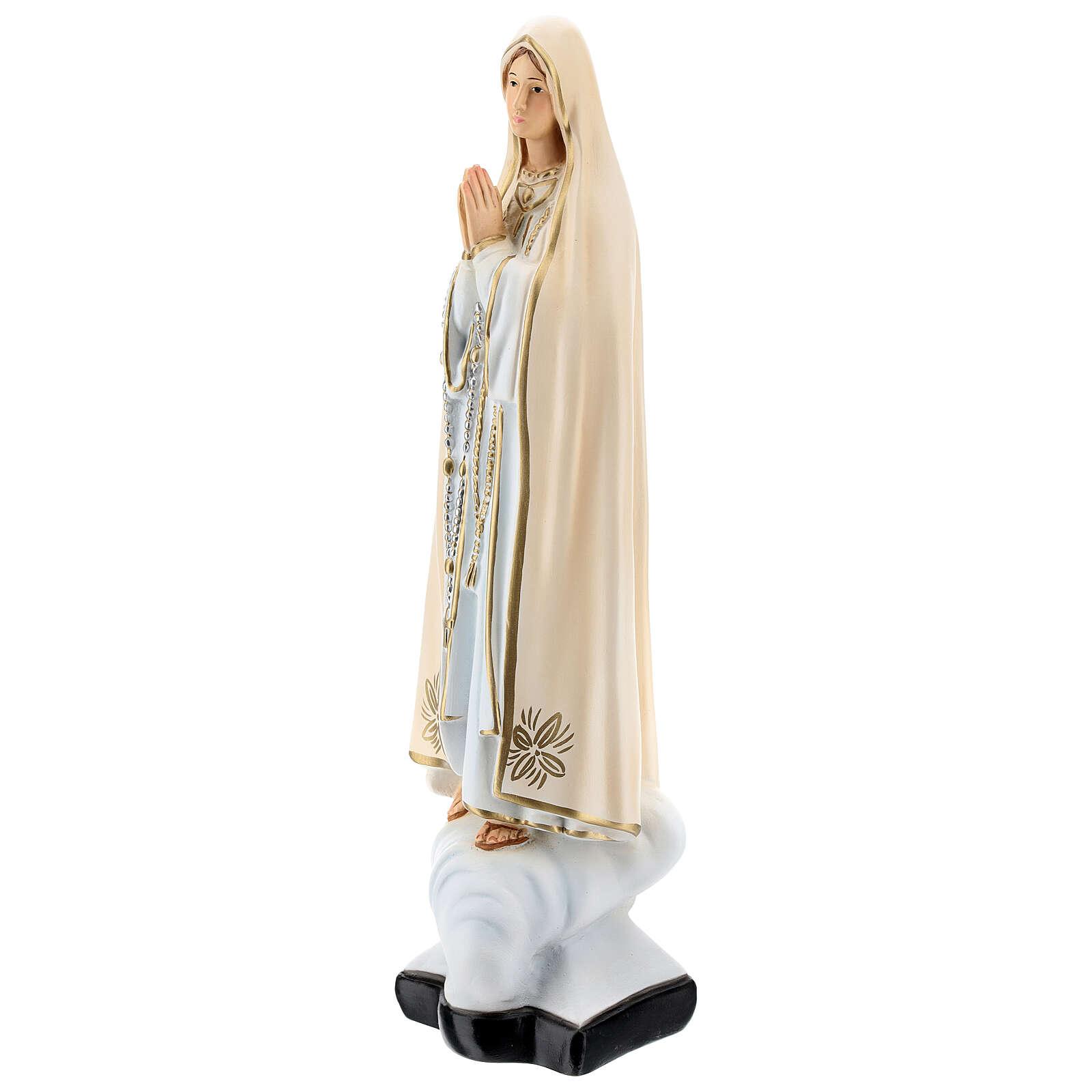 Statue Notre-Dame de Fatima résine 30 cm peinte 4