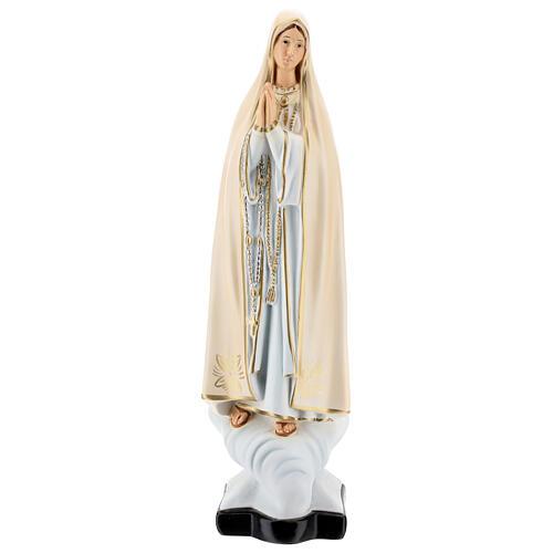 Statue Notre-Dame de Fatima résine 30 cm peinte 1
