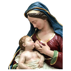 Estatua Virgen de las Gracias busto 100 cm fibra de vidrio pintada s2