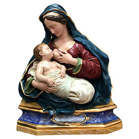 Statua Madonna delle Grazie busto 100 cm vetroresina 700 napoletano s1