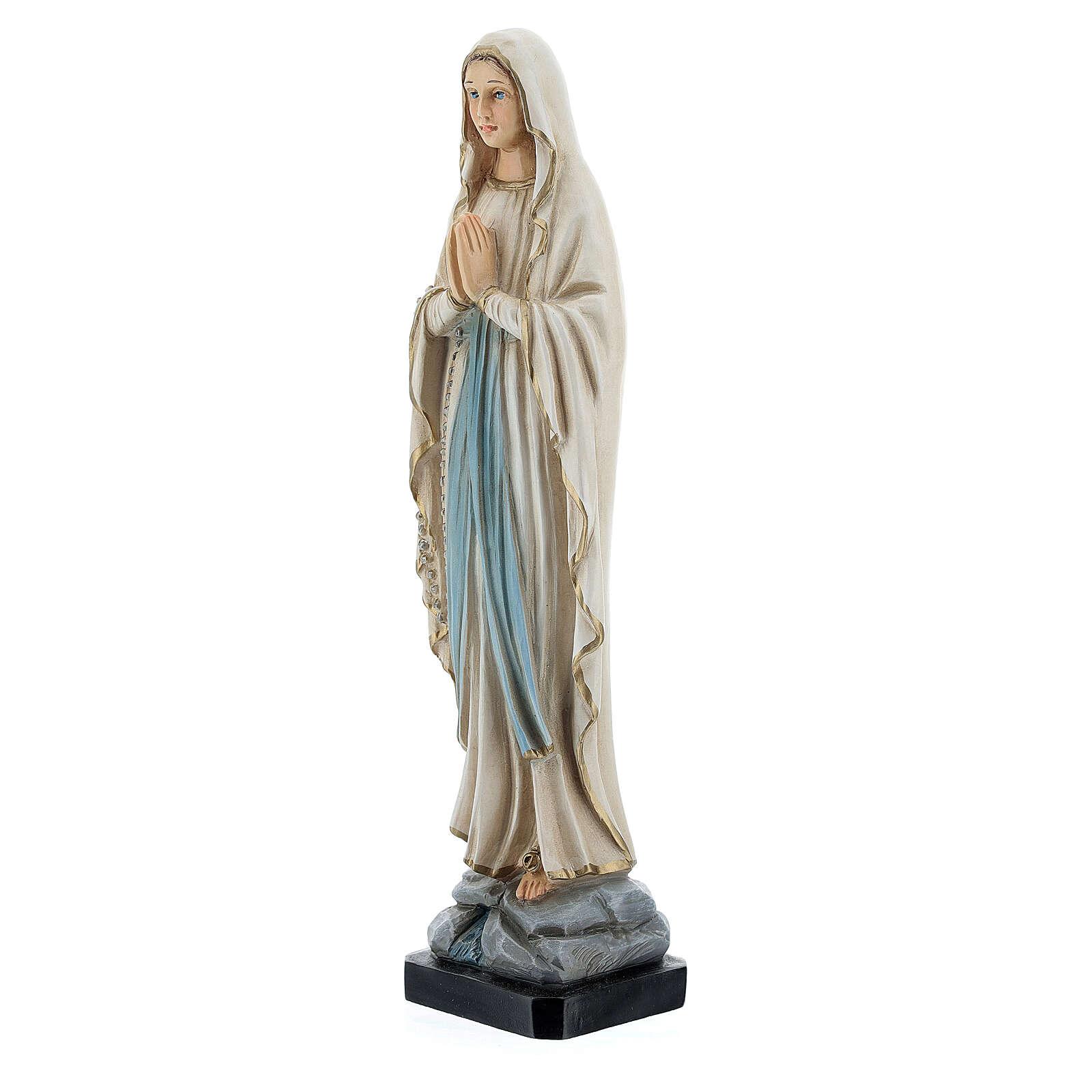 Statue Notre-Dame de Lourdes résine peinte 20 cm 4