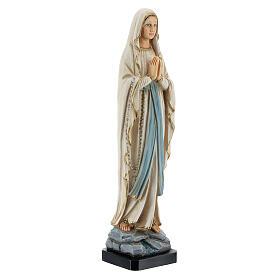 Statue Notre-Dame de Lourdes résine peinte 20 cm s3
