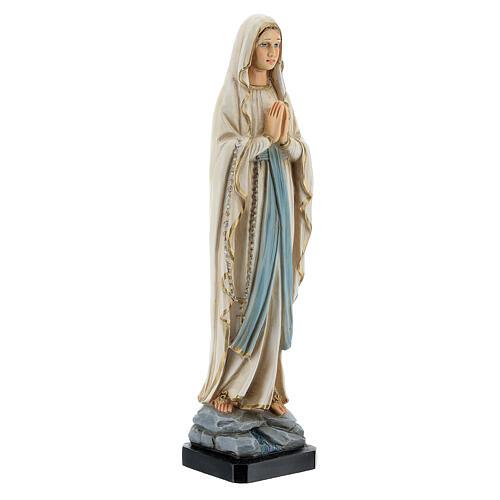 Statue Notre-Dame de Lourdes résine peinte 20 cm 3