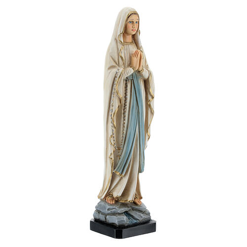 Madonna of Lourdes statue, 20 cm painted resin 3
