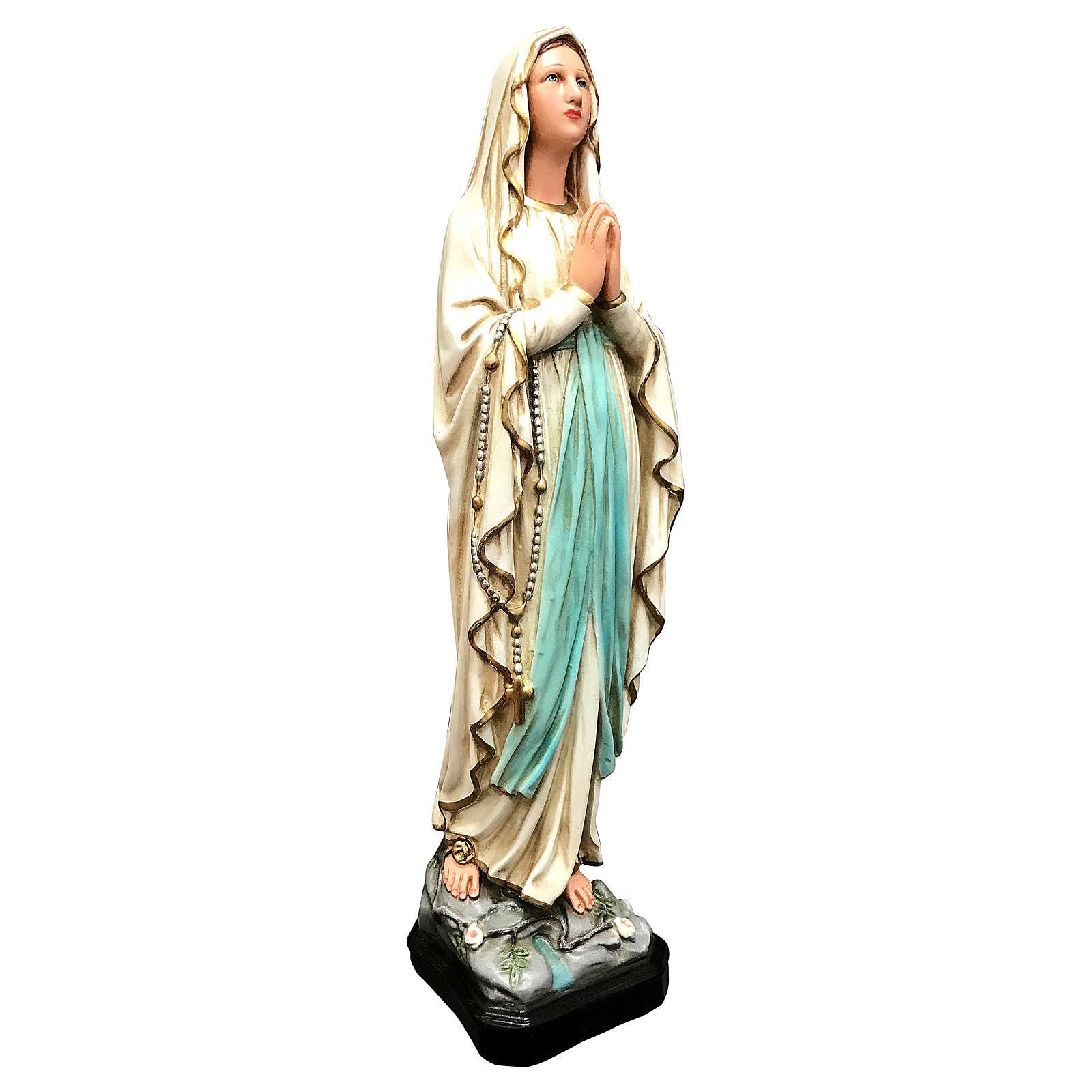 Estatua Virgen de Lourdes 40 cm resina pintada 4
