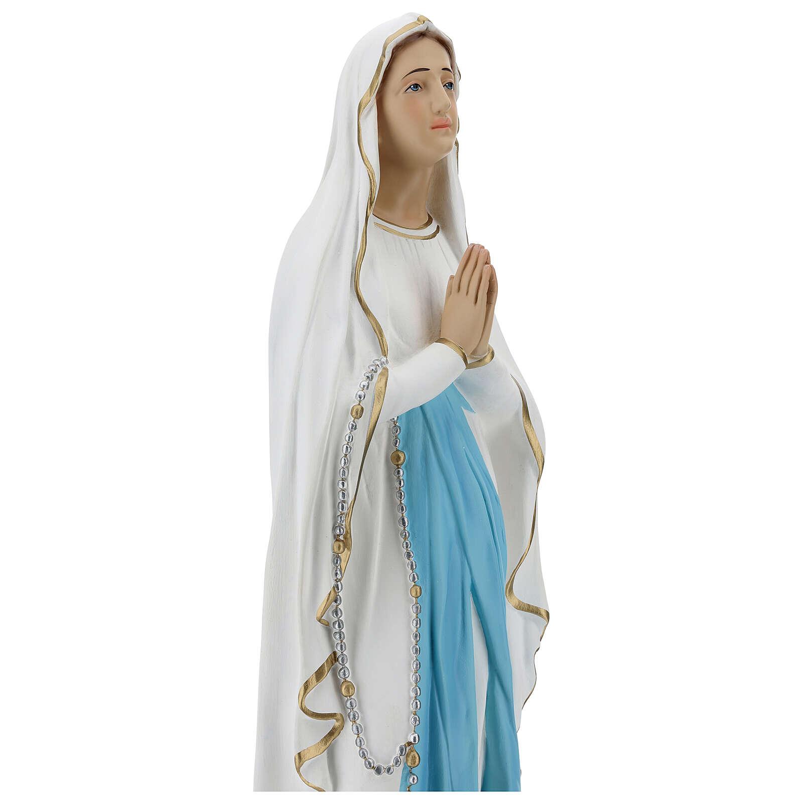 Estatua Virgen de Lourdes 75 cm fibra de vidrio lúcida PARA EXTERIOR 4