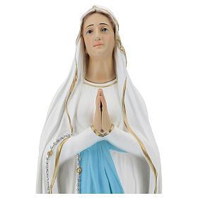 Estatua Virgen de Lourdes 75 cm fibra de vidrio lúcida PARA EXTERIOR s2