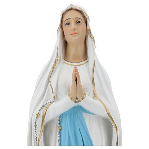 Estatua Virgen de Lourdes 75 cm fibra de vidrio lúcida PARA EXTERIOR 2