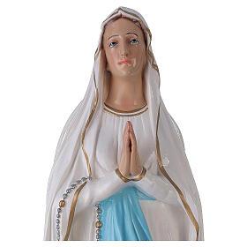 Nossa Senhora de Lourdes 75 cm fibra de vidro brilhante PARA EXTERIOR